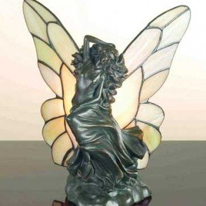 Floating Fairy Tiffany Stained Glass Accent Lamp
