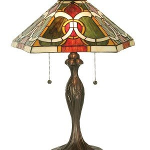 Colorful Moroccan Tiffany Stained Glass Table Lamp