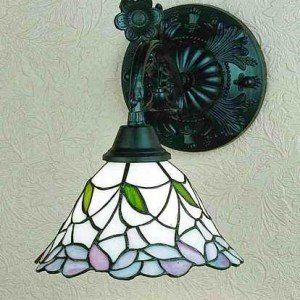 Daffodil Bell Tiffany Stained Glass Sconce Light
