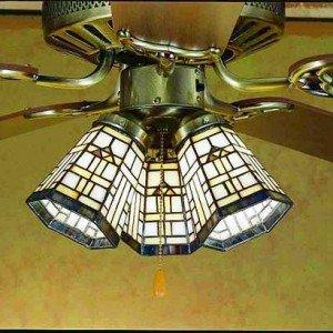 Arrowhead Tiffany Stained Glass Fan Light Shade