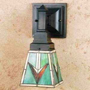 Comanche Mission Tiffany Stained Glass Sconce Light