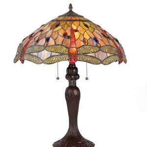 Anisoptera Purity Tiffany Stained Glass Table Lamp