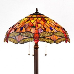 Stained glass tiffany style floor lamps for sale all things tiffany anisoptera purity dragonfly tiffany stained glass 3 light floor lamp aloadofball Gallery