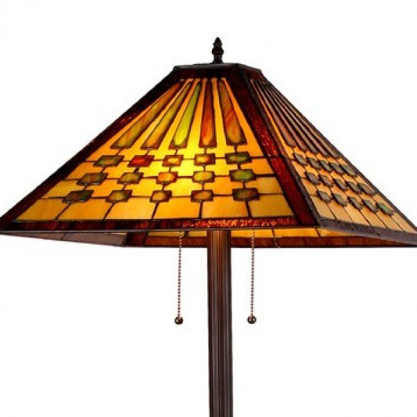 Chadrick mission tiffany stained glass floor lamp all things tiffany chadrick mission tiffany stained glass floor lamp mozeypictures Gallery