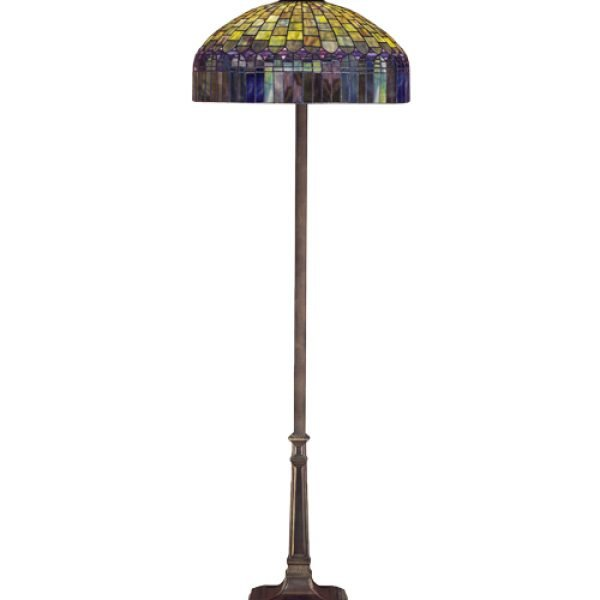 glass floor lamp. Candice Purple Fringe Stained Glass Floor Lamp