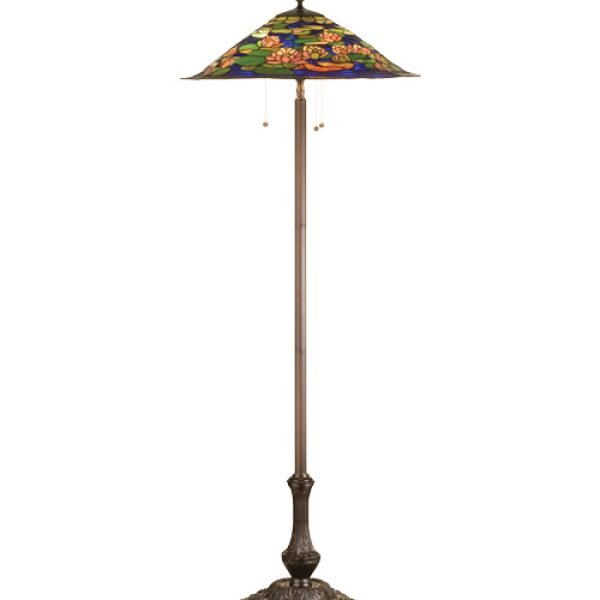 Lily pond tiffany art glass floor lamp all things tiffany lily pond tiffany stained glass floor lamp aloadofball Images