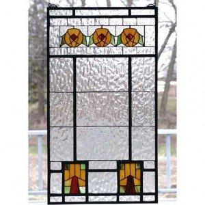Aurora Dogwood Tiffany Stained Gl Window Panel
