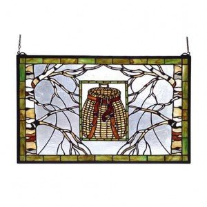 Adirondack Basket Tiffany Stained Glass Window Panel