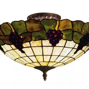 Grapes all things tiffany grapevine tiffany stained glass semi flush light mozeypictures Images