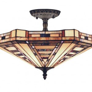 Tiffany Style Ceiling Lights & Stained Glass Fixtures for Sale | All ...