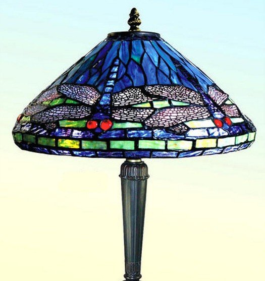 Blue Dragonfly Tiffany Style Table Lamp All Things Tiffany