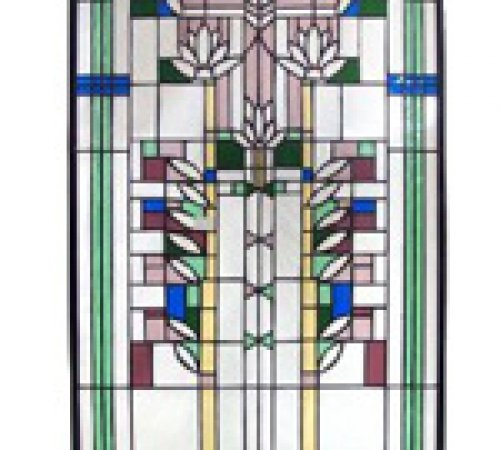 Lotus Stained Glass Panel