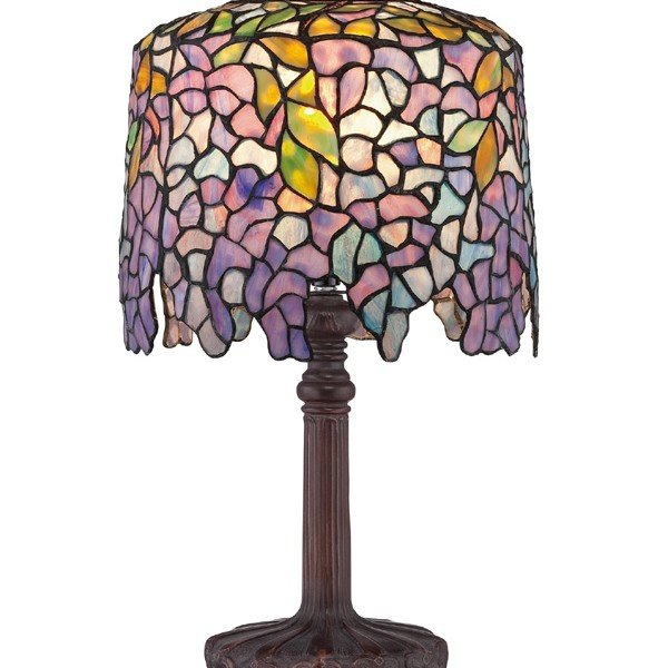 Purple wisteria tiffany desk lamp all things tiffany purple wisteria tiffany desk lamp mozeypictures Image collections