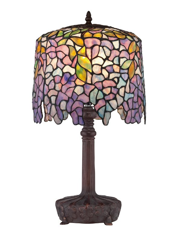 Purple Wisteria Tiffany Desk Lamp
