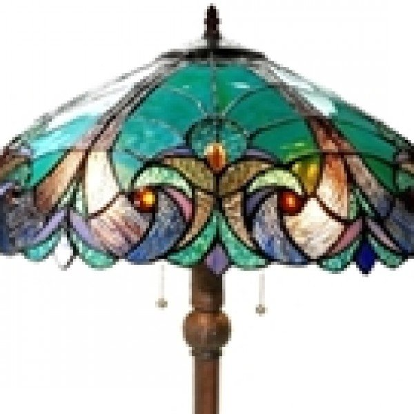 Liaison turquoise victorian tiffany stained glass 2 light floor lamp tiffany stained glass victorian style floor lamp aloadofball Image collections