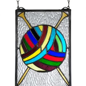 Yarn Ball Tiffany Stained Glass Window Panel