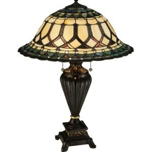 Aello Jeweled Tiffany Stained Glass Table Lamp