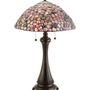 Agata Purple Tiffany Stained Glass Table Lamps