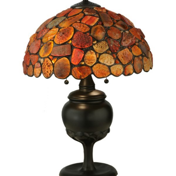 Agata red tiffany stained glass table lamp all things tiffany agata red tiffany stained glass table lamp aloadofball Images