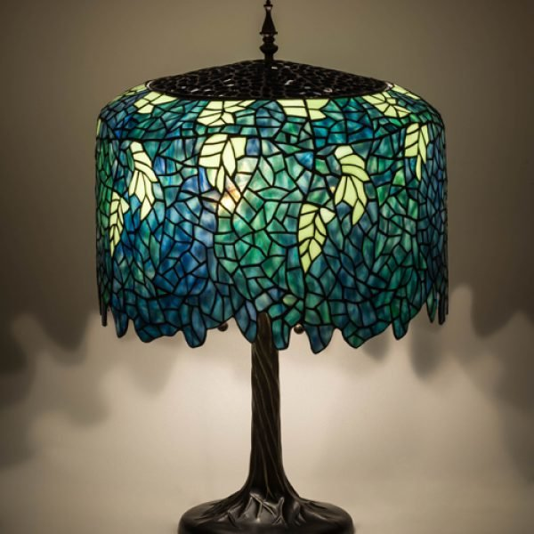 Wisteria ocean tiffany stained glass table lamp all things tiffany wisteria ocean tiffany stained glass table lamp mozeypictures Image collections